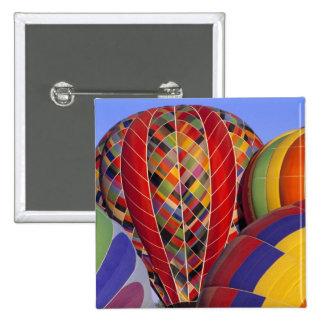 USA, Arizona, Val Vista. Colorful hot-air 15 Cm Square Badge