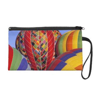 USA, Arizona, Val Vista. Colorful hot-air Wristlet Purses