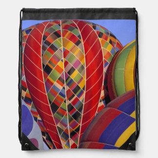 USA, Arizona, Val Vista. Colorful hot-air Drawstring Bag