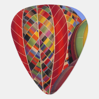USA, Arizona, Val Vista. Colorful hot-air Guitar Pick