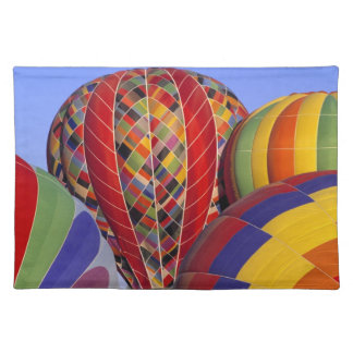 USA, Arizona, Val Vista. Colorful hot-air Place Mats
