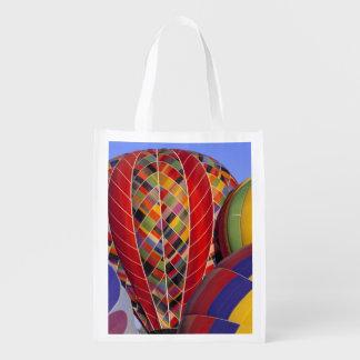 USA, Arizona, Val Vista. Colorful hot-air Reusable Grocery Bag