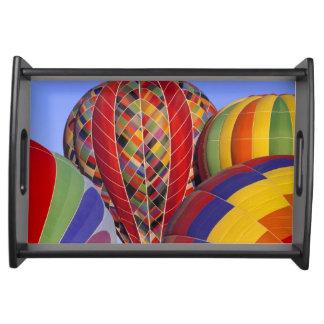 USA, Arizona, Val Vista. Colorful hot-air Serving Tray