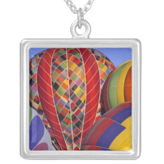 USA, Arizona, Val Vista. Colorful hot-air Silver Plated Necklace