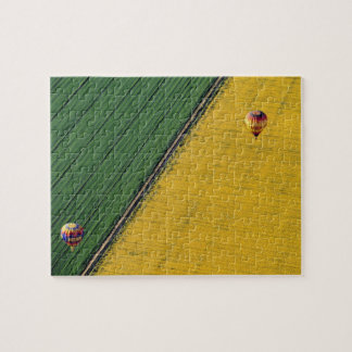 USA, Arizona, Val Vista. Hot-air balloons soar Jigsaw Puzzle