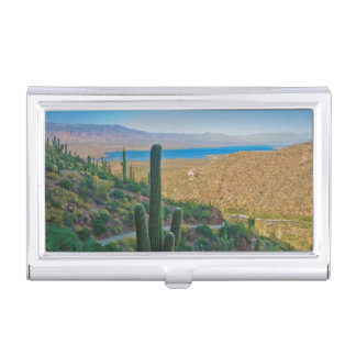 USA, Arizona. View From The Entrance To Tonto Business Card Holder