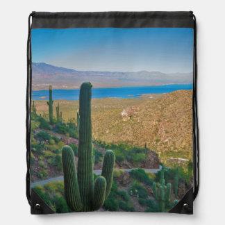 USA, Arizona. View From The Entrance To Tonto Drawstring Bag