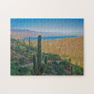 USA, Arizona. View From The Entrance To Tonto Jigsaw Puzzle