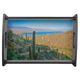 USA, Arizona. View From The Entrance To Tonto Serving Tray