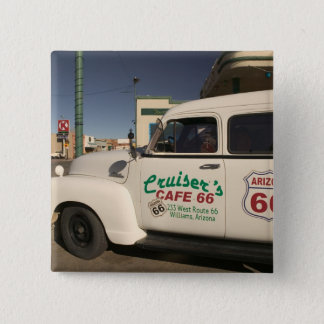 USA, Arizona, Williams: Cruisers Cafe 66 Old 15 Cm Square Badge