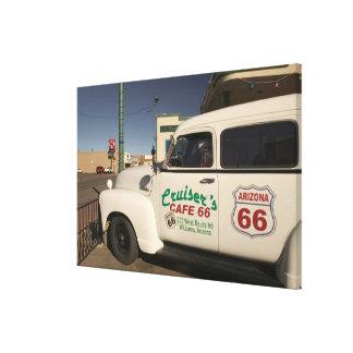 USA, Arizona, Williams: Cruisers Cafe 66 Old Canvas Print