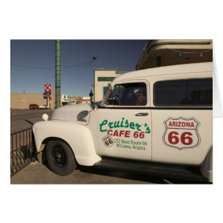 USA, Arizona, Williams: Cruisers Cafe 66 Old Card