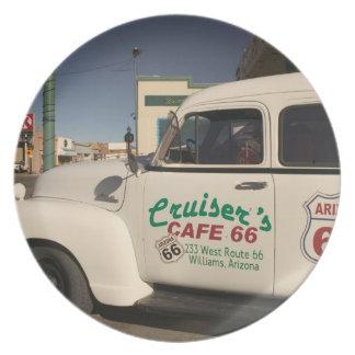 USA, Arizona, Williams: Cruisers Cafe 66 Old Plate