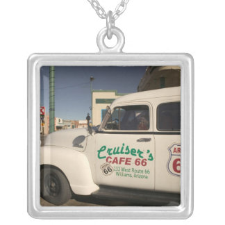 USA, Arizona, Williams: Cruisers Cafe 66 Old Silver Plated Necklace