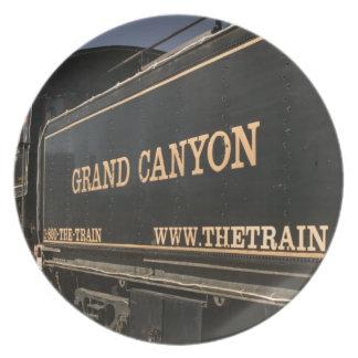 USA, Arizona, Williams: Grand Canyon Railroad Plate