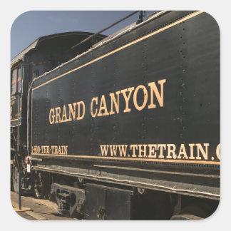 USA, Arizona, Williams: Grand Canyon Railroad Square Sticker