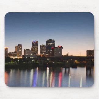 USA, Arkansas, Little Rock, City Skyline Mouse Mat