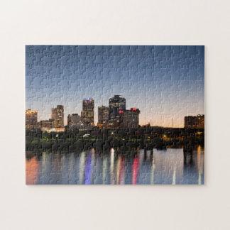 USA, Arkansas, Little Rock, City Skyline Puzzle