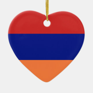 USA & Armenia Flag Heart Ornament