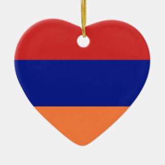 USA & Armenia Flag Heart Ornament