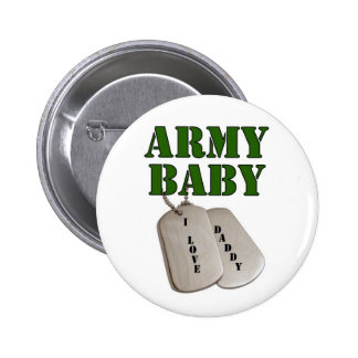 usa-army baby-dad 6 cm round badge