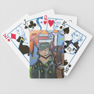 USA  art 4 Bicycle Playing Cards