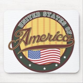 USA Badge Mouse Pad