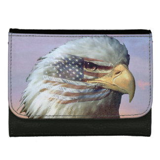 USA Bald Eagle Flag America Patriot Wallet