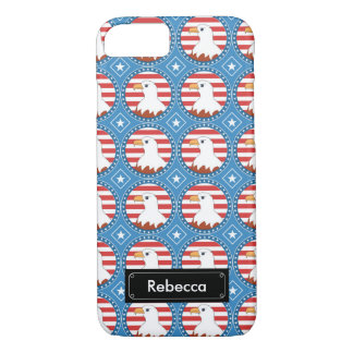 USA bald eagle pattern iPhone 7 Case
