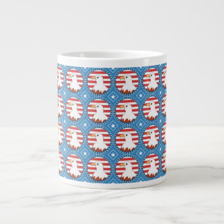 USA bald eagle pattern Large Coffee Mug