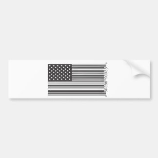 USA Barcode Bumper Sticker