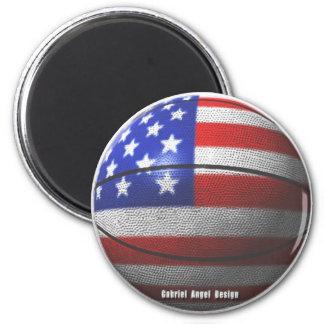 USA Basketball 6 Cm Round Magnet