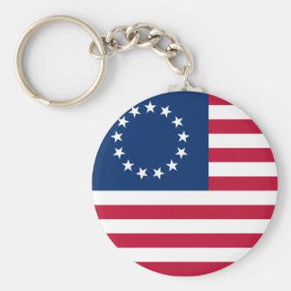 usa betsy flag basic round button key ring