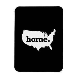 USA BLACK RECTANGULAR PHOTO MAGNET