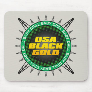 USA Black Gold Mouse Pad