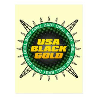 USA Black Gold Postcard