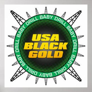 USA Black Gold Poster
