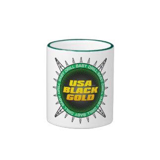 USA Black Gold Ringer Mug