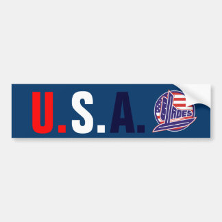 USA BLADES CAR BUMPER STICKER
