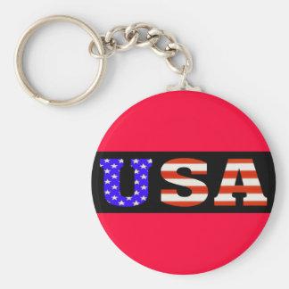 USA Blk 11x3 Key Ring