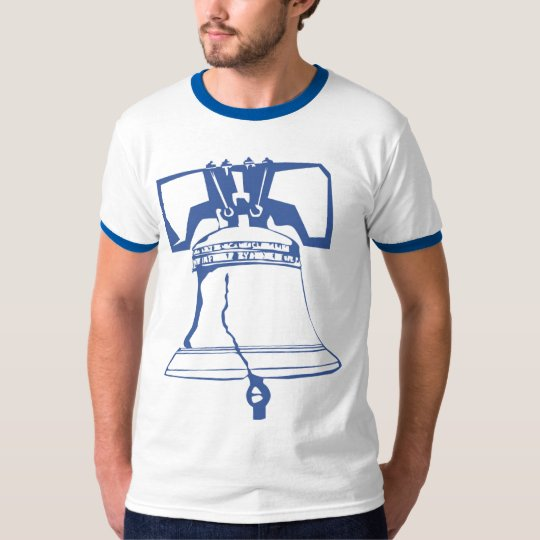 USA-Blue Liberty Bell T-Shirt