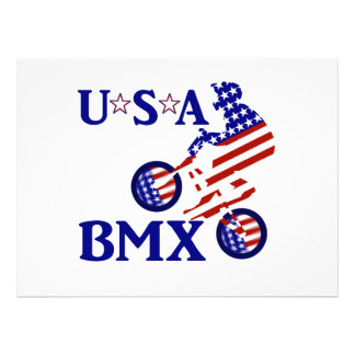 USA BMX - American Cyclist Personalized Invites