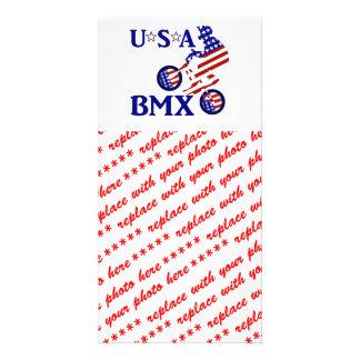 USA BMX - American Cyclist Photo Greeting Card