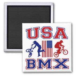 USA BMX SQUARE MAGNET