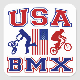 USA BMX SQUARE STICKER