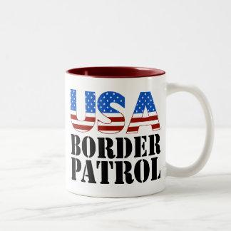 USA Border Patrol Two-Tone Mug