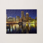 USA, Boston, city skyline at night (long Jigsaw Puzzle