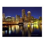 USA, Boston, city skyline at night (long Postcard
