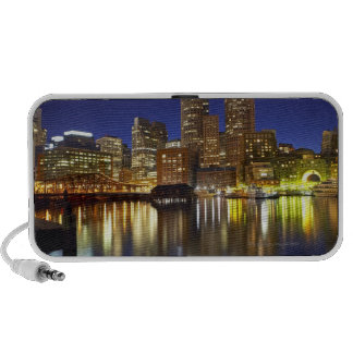 USA, Boston, city skyline at night (long Notebook Speakers