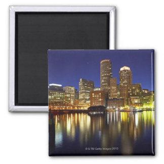 USA, Boston, city skyline at night (long Square Magnet